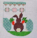 D-18A Easter Wee Stocking 2 x 2 ½ 18 Mesh Designs By Dee