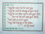 D-28 Irish Blessing  12 ½ x 9 18 Mesh Designs By Dee