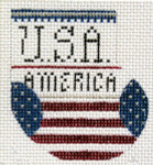 D-19A 4th of July Wee Stocking 2 x 2 ½ 18 Mesh Designs By Dee
