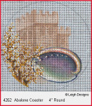 4262 Leigh Designs Abalone 18 Count Canvas