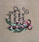 "D-162 Parents Make Christmas Special (on brown canvas) 4"" round 18 Mesh Designs By Dee"