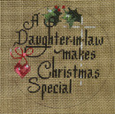 "D-176 A Daughter-In-Law Make Christmas Special (on brown canvas) 4"" round 18 Mesh Designs By Dee"