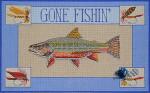 ERB-6 Gone Fishin' I (Trout) 9 x 12 18 Mesh EILEEN R. BEST