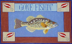 ERB-9 Gone Fishin' II (Bass) 19 x 12 18 Mesh EILEEN R. BEST