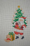 J-22 Santa/candle tree stocking 10 x 17 13 Mesh DESIGNS BY JINICE