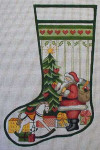 J-24 Santa/tree/rocking horse stocking 10 x 17 13 Mesh DESIGNS BY JINICE