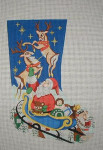 J-25 Santa sleigh stocking 10 x 17 13 Mesh DESIGNS BY JINICE