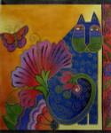 LB-09 Blossoming Spirits 10 x 12 18 Mesh Danji Designs LAUREL BURCH Cat