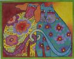 LB-02 Kindred Spirits 10 x 8 18 Mesh Danji Designs LAUREL BURCH