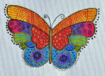 LB-47 Rainbow Butterfly 7 x 4 ½ 18 Mesh Danji Designs LAUREL BURCH