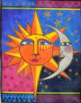 LB-20 Sister Sun, Brother Moon 10 x 13 18 Mesh Danji Designs LAUREL BURCH