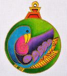 "LB-37 Bird Ornament 5"" Round 13 Mesh Danji Designs LAUREL BURCH"