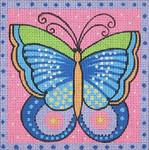LB-71 Pink Butterfly 5 x 5 18 Mesh Danji Designs LAUREL BURCH
