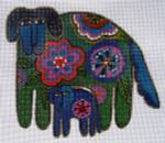 LB-15 Floral Dogs 6 x 5 18 Mesh Danji Designs LAUREL BURCH