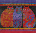 LB-01 Feline Friends 13 x 12 13 Mesh Danji Designs LAUREL BURCH