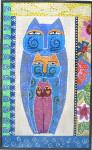 LB-22 Pastel Cats 8 x 13 18 Mesh Danji Designs LAUREL BURCH