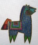 LB-54 Petite Ponies 8 5 x 6 18 Mesh Danji Designs LAUREL BURCH