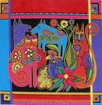 LB-07 Kindred Creatures 14 x 14 13 Mesh Danji Designs LAUREL BURCH
