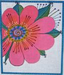 LB-23 Pink Flower 10 x 12 18 Mesh Danji Designs LAUREL BURCH