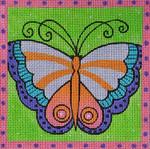 LB-72 Green Butterfly 5 x 5 18 Mesh Danji Designs LAUREL BURCH
