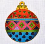 """LB-38 Geometric Ornament 5"""" Round 13 Mesh Danji Designs LAUREL BURCH"""