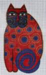 LB-12 Red Cat  3 x 5 18 Mesh Danji Designs LAUREL BURCH