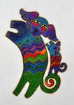 LB-46 Dancing Dogs 4 x 6 18 Mesh Danji Designs LAUREL BURCH