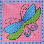 LB-68 Pink Dragonfly 5 x 5 18 Mesh Danji Designs LAUREL BURCH