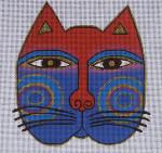 LB-33 Large Cat Face 8 x 8 13 Mesh Danji Designs LAUREL BURCH