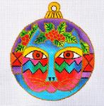 """LB-35 Cat Face Ornament 5"""" Round 13 Mesh Danji Designs LAUREL BURCH"""