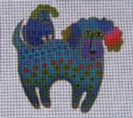 LB-28 Poodle and Pup 5 x 5 18 Mesh Danji Designs LAUREL BURCH