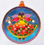 """LB-36 Cat Angel Ornament 5"""" Round 18 Mesh Danji Designs LAUREL BURCH"""