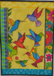 LB-61 Rainbow Hummingbirds 10 x 14 18 Mesh Danji Designs LAUREL BURCH