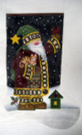 LK-14 Home  Spun Santa Stocking 11 x 22 13 Mesh LAURIE KORSGADEN