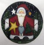 "LK-40 Christmas Wishes 5"" Round 18 Mesh LAURIE KORSGADEN"