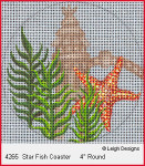 4265 Leigh Designs Star Fish 18 Count Canvas