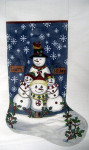 LK-18 Holiday Hugs Stocking 11 x 22 13 Mesh LAURIE KORSGADEN