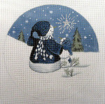 "LK-43 Snow people and Shining Star 5"" Round 18 Mesh LAURIE KORSGADEN"