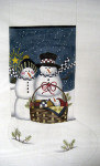 LK-19 Snow Family Stocking 11 x 22 13 Mesh LAURIE KORSGADEN