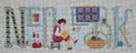 MMW-44 Needlework 16 ½ x 6 ½  18 Mesh MARY MARGARET WALDOCK