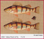 4324 Leigh Designs Yellow Perch And Fly 18 Count Canvas