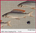 4325 Leigh Designs Artic Grayling And Fly 18 Count Canvas
