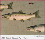 4323 Leigh Designs Chinook Salmon And Fly 18 Count Canvas