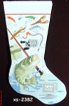 "XS-2382 Bass Fishing 18 Mesh 20"" Stocking CBK Bettieray Designs"