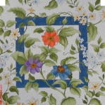 "PF-1538 Jacobean 18 Mesh 12"" Flowers CBK Bettieray Designs"