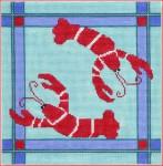 "CBK Designs by Karen DK-PL 19 Lobster 18  Mesh 7 x 7.5"""
