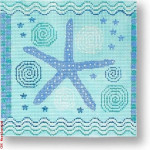 "CBK Designs by Karen DK-EX 18 Starfish with Waves 18 Mesh 5.5"" Sq."