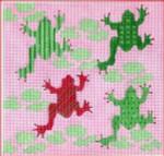 "CBK Designs by Karen DK-PL 23 Frogs 13 Mesh  7.5 x 7.25"""