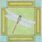 "CBK Designs by Karen DK-PL 05 Dragonfly with Border 18 Mesh 9"""