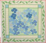 """CBK Designs by Karen DK-PL 16 Blue Hydrangea 13 Mesh 9.5"""""""